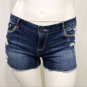Maurices Distressed Cutoff Jean Shorts